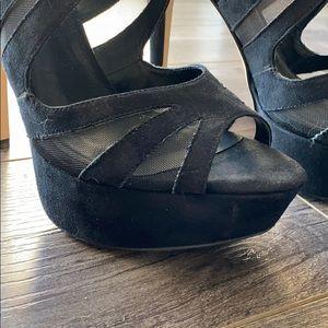 Aldo Shoes - Aldo mesh peep toe heels
